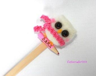 Bookmark owl Needle Felted