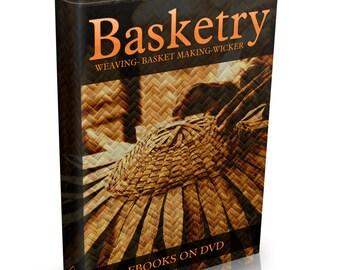 Rare Basket Making Books on DVD Weaving Willow Basket Art Raffia Weave Wicker Woven Basketry