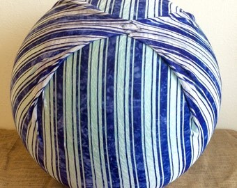 Birth Ball Cover with Handle, Exercise/Yoga Ball Cover, Birthing Ball Cover, Ball Cover - NAVY STRIPES
