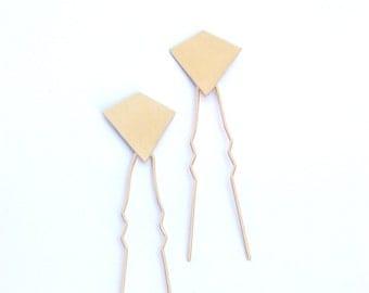 Bridal Hair Pin, diamond Hair Stick, Wedding Hair Clip, Golden hair stick, Gold flower Hair Pin, bridal hair accessories