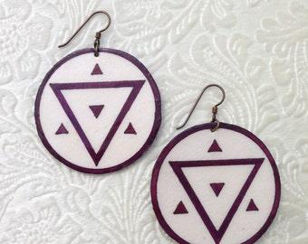 Large Geometric Earrings