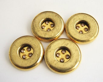 Gold tone metal buttons, flat metal buttons, very classic design, unused!!