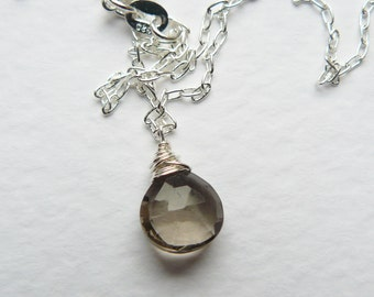 Delicate Smokey Quartz Necklace