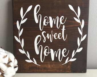 Home Sweet Home Sign - Rustic Wood Sign - Home Sweet Home - Entryway Decor - Fireplace Decor - Wood Sign - Mantle Decor