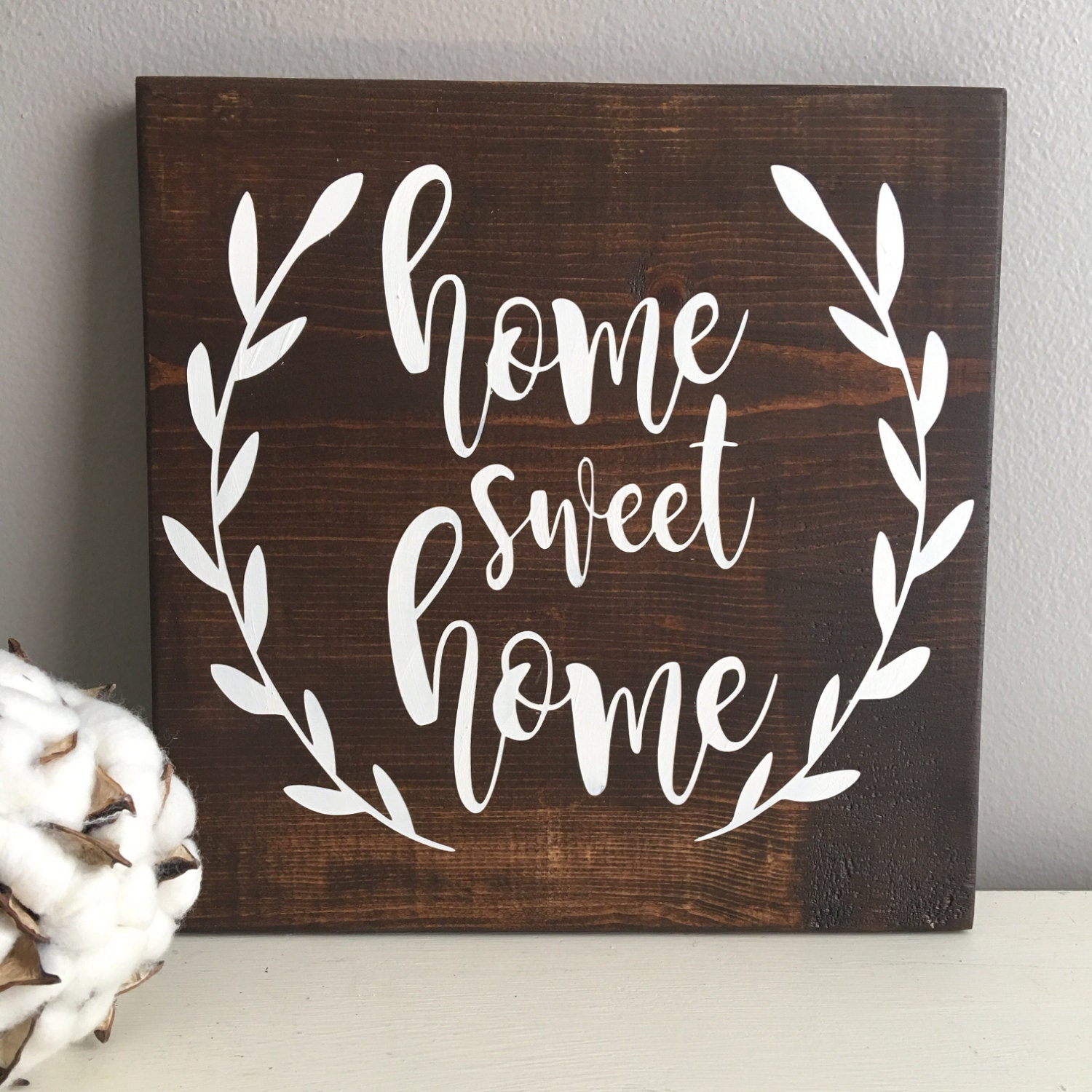 Home Sweet Home Sign Rustic Wood Sign Home Sweet Home