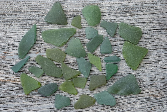 Basket Making Supplies Florida : Olive green sea glass forest beach craft