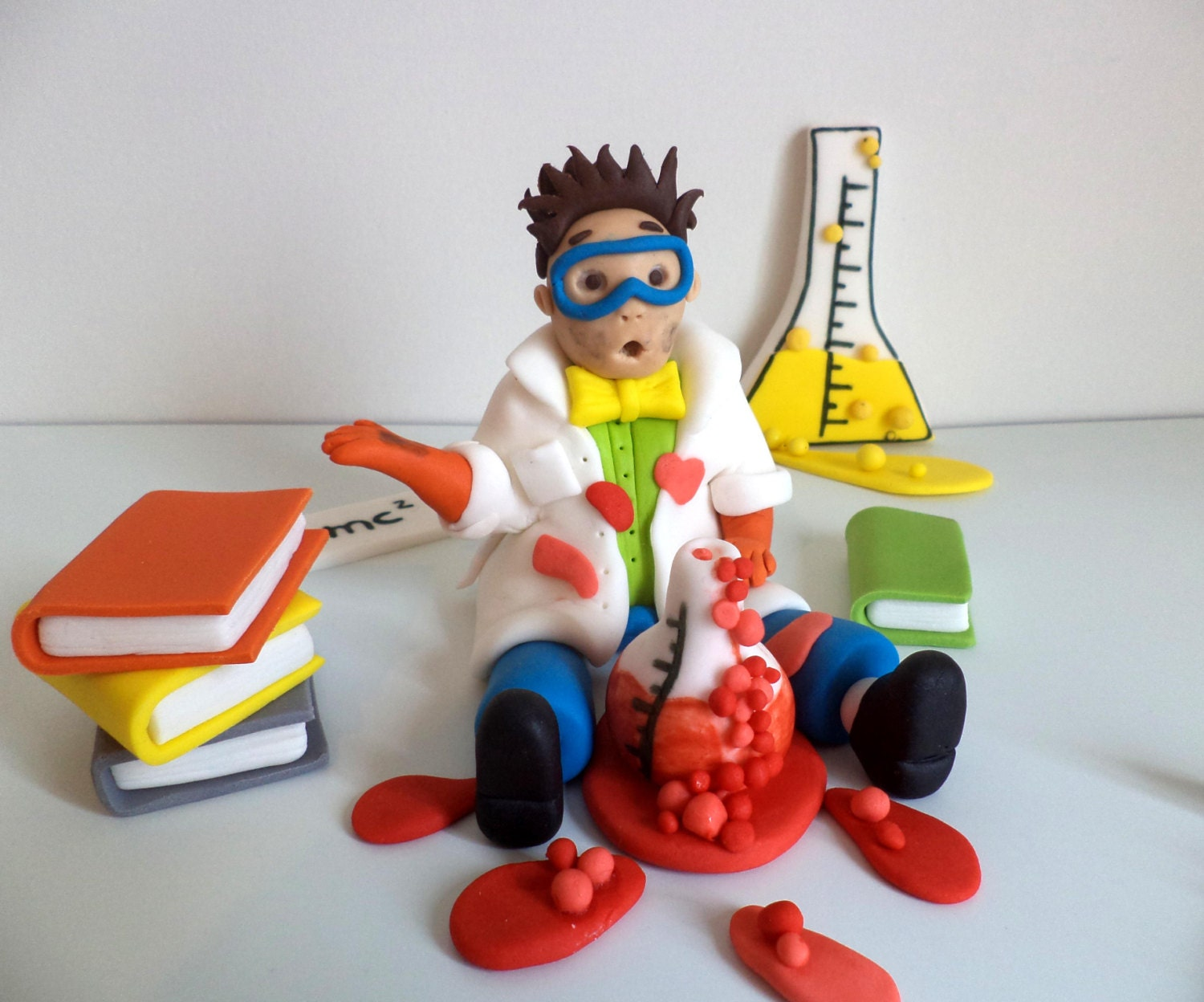 Wedding Cake Topper Scientist