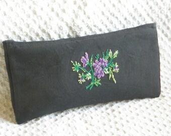 Purple Flowered Clutch
