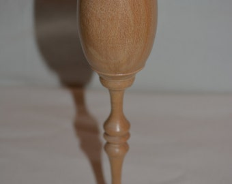 Beautiful Elegant Handmade Sycamore Wood Tulip Flute/Goblet