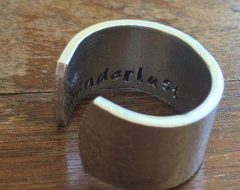 "Wanderlust - 1/2"" Single Wrap Ring Pebbled Texture Artisan Handmade Custom Jewelry Sizes 3-14 Copper Brass Silver Aluminum"