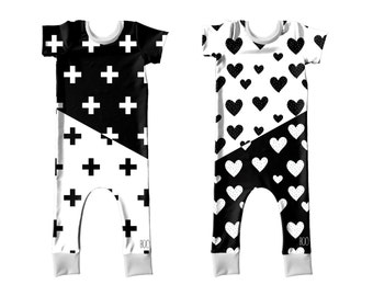 Black and White Matching Outfits, Brother and Sister Matching Outfits, 6m - 6T FREE SHIPPING