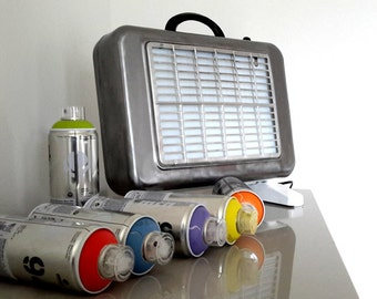 """Lamp Design from a former trademark radiator """"Junas» of the years 60/70."""