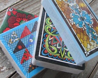 Retro Playing Cards - New Old Stock - Vintage Playing Card - Sealed Deck - 4 Available