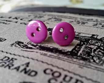 Button ear studs
