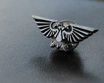 The Imperial Aquila pin inspired by Warhammer 40k game from white bronze