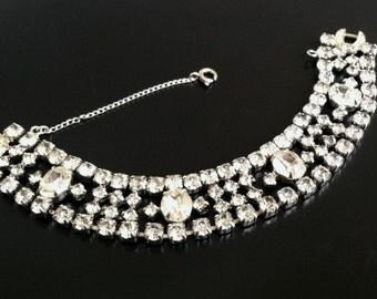 SALE! Vintage WEISS Rhinestone Bracelet, Wedding Bridal Statement Jewelry, Vintage Jewelry, Signed, 1960's, Vintage Jewelry Mid Century