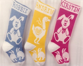 PERSONALIZED EASTER BUNNY Stockings