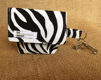 Zebra Pattern Dog Treat Pouch/ Waste Bag Carrier