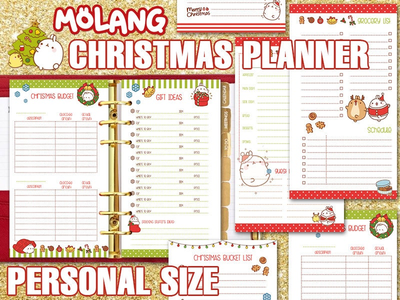 Christmas Planner Personal Size Molang Printable Holiday