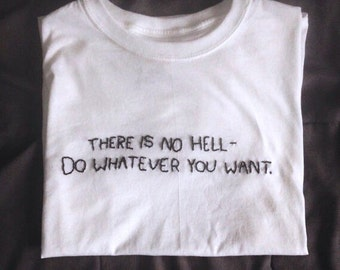 There Is No Hell tee // hand-embroidered