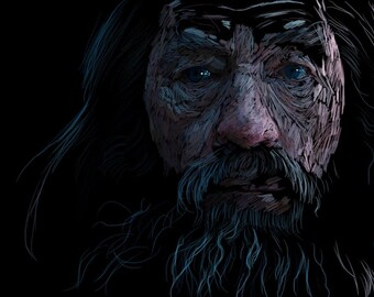 Small print - Gandalf digital painting