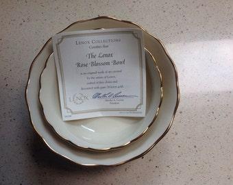 Lenox 24 carat gold trimmed rose bowls