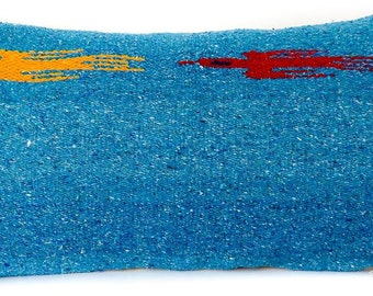 Turquoise Thunderbird Lumbar Down Accent Chair Pillow