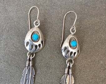 Bear Claw Turquoise Dangles