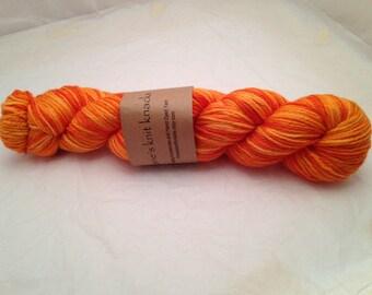 Hand Dyed Worsted Weight 100% Superwash Merino Yarn_Harvest Moon