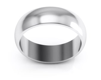 Stainless Steel 8mm Ring Band. Free Engraving Included.