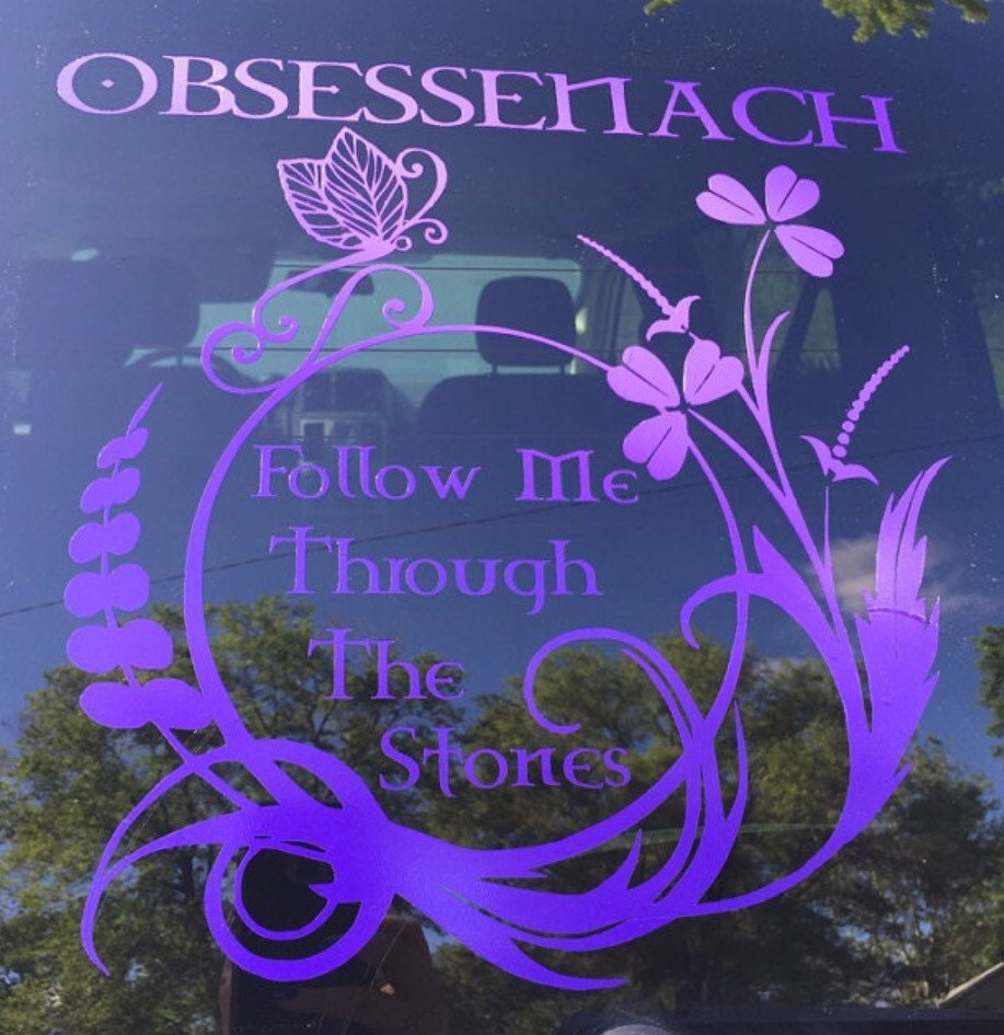 Outlander Dragonfly Stone Circle Vinyl Decals From