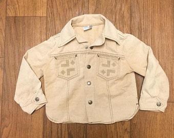 Billy The Kid brand khaki denim jacket 70s