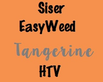 "Tangerine Siser EasyWeed HTV Tangerine Heat Transfer Vinyl 12x15"" Sheets Tangerine T-Shirt Iron-On Vinyl Pastel Orange HTV"