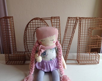 SALE - Girl cloth doll #6 by Kk and Boo