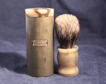 Vintage NOS Simpsons Best Badger Cased Travel Shaving Brush, Original knot !