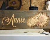 Personalized Sunflower Rustic Sign