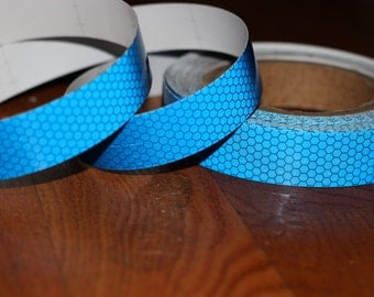 Blue Scale Reflective Taped Push Button Collapsible Hula Hoops **Clear Protective Tape Included