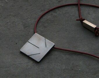 SAGITARIUS. Men's star sign. Sterling silver, leather cord.Gift for men. December. Birthday. Gift for him.