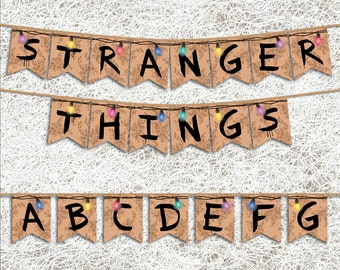 Stranger Things™ Inspired Banner | PRINTABLE Party Supplies | Stranger Things™ Party Banner | Netflix™ Series Decorations | Birthday Party