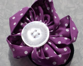 Purple Flower Hair Band/Elasitc