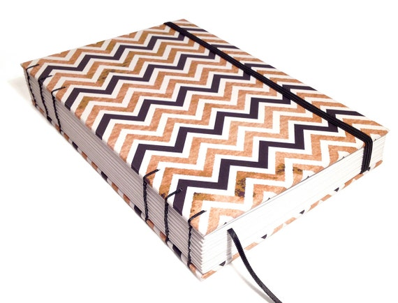 Writing Journals & Notebooks in Bold Chevron Print. Blank, Ruled, Dotted, Squared, or Watercolour.