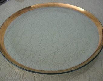 Annieglass Roman Antique 19 inch Round Platter