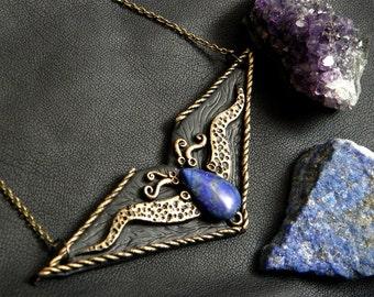 Lapis Lazuli Elven Necklace