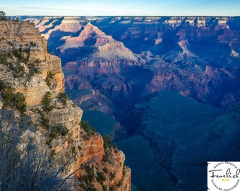 "Magnificent Grand Canyon ""South Rim Chasm 2"" Fine Art Photograph (9.5"" x 13.25"" print on 14"" x 18"" archival board) Limited Edition Signed"
