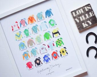 Kentucky Derby 141 11x14 Jockey Silks Signed Print