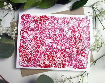 Floral Greeting Cards - Set of 10