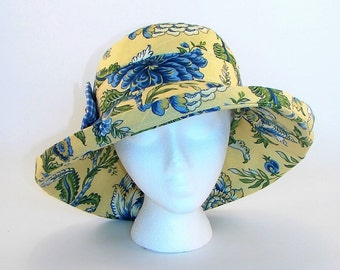Garden and Sun Hat with Wide Brim Womens size Large Handmade