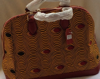 African fabric hand bag