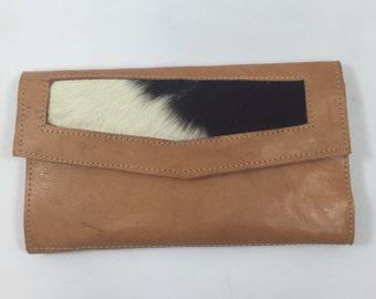 Vintage Handmade Leather Tri-Fold Wallet