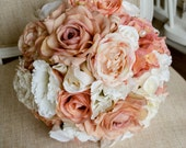 Vintage peach, ivory and ...